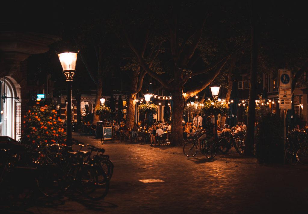 Summer night in Utrecht city
