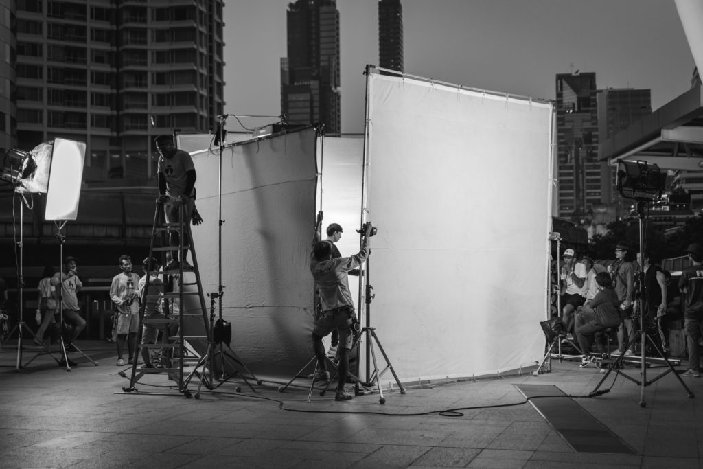 Making a commercial in Bangkok