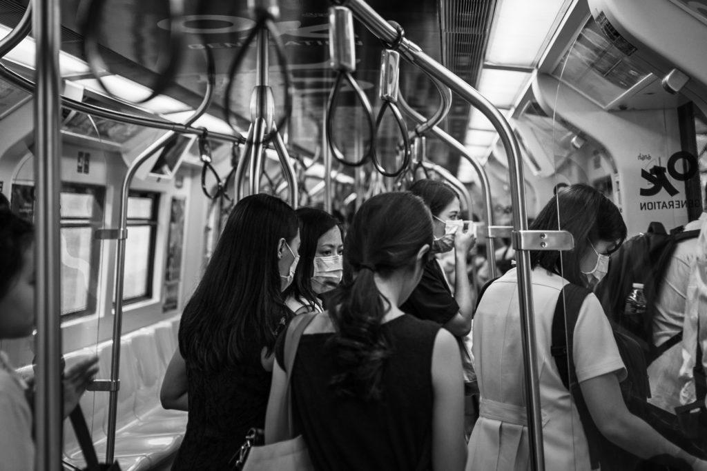 Woman in subway in Bangkok