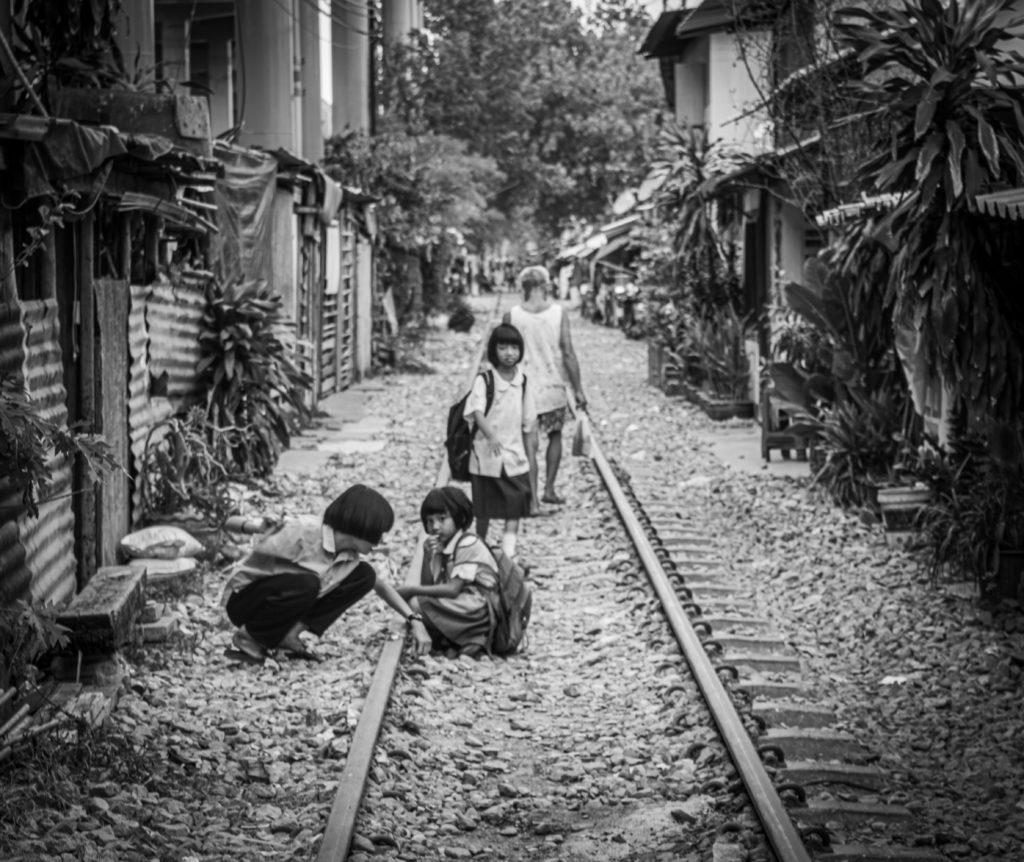 Children playing in Bangkok